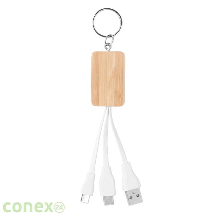 Bambusowy kabel USB 3w1 CLAUER