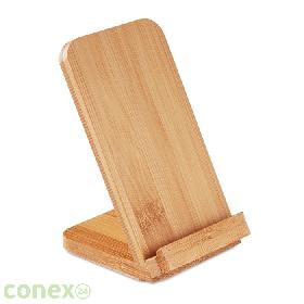 Bezprzewodowa ładowarka stojak z bambusa WIRE&STAND